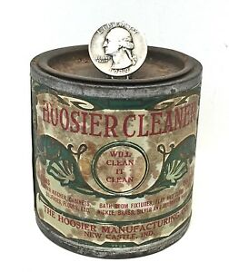 Antique Original Hoosier Cleaner Tin Paper Label Cabinet Cupboard Hmc