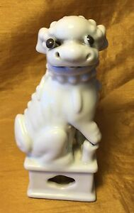 Antique 1862 Blanc De Chine Chinese White Porcelain Foo Foo Lion Dog Figurine