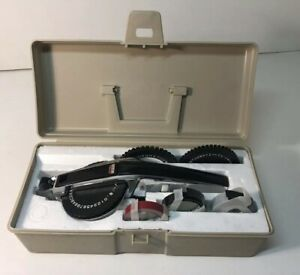 Vintage Dymo Deluxe Tapewriter 1570 Plastic Tape Label Maker Extremely Nice Cond