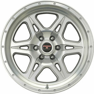 Level 8 Strike 6 17x9 6x114 3 6x4 5 12mm Silver Wheels Rims 1790st6 26114s84