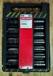 Craftsman 1 2 Drive 12 Piece 6 Point Sae Deep Impact Socket Set