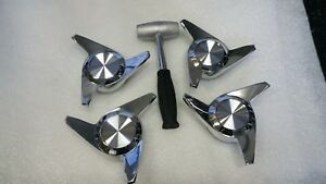 3 Bar Spinners Chrome Swept Knock Offs K Off Wire Wheel With Hammer New