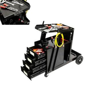 4 Drawer Welder Welding Cart Universal Tool Tank Storage