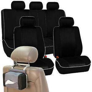 Car Seat Covers Sport Line Complete Set Gray Free Gift Tissue Dispenser