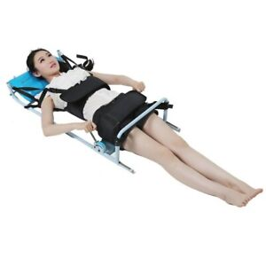 Efficent Cervical Spine Lumbar Spine Traction Bed Therapy Massage Body Stretchi