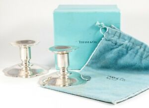 Tiffany Co Makers Sterling Silver Candlesticks