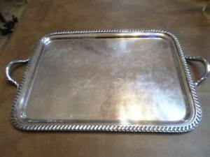 Silver Plate Hollowware Silver Soldered By Reed Barton Tray 2900