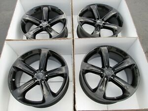 20 Dodge Charger Challenger Wheels Rims Set 4 Gloss Black Oem Rt Original