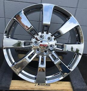 26 Inch Denali Gmc Yukon Chrome Wheels Tires Sierra Chevy Tahoe Silverado Rims