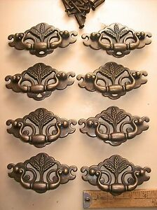Lot Of 10 Vintage Bail Drawer Pulls Keeler Brass Co Usa 3 Centers Wheat Nos
