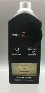 Radio Shack Working Sound Level Meter Tester Realistic 33 2050 Fast Ship B34