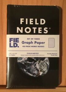 Field Notes Earth Field Museum Limited Edition Sealed Pack Of 3 Memo Books