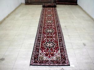 23 8x2 7 Exquisite New Hand Knoted Wool Persian Heriz Design Oriental Rug Runner
