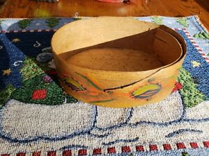 Vintage Decorated 6 Wood Pantry Box Lovely Hand Painted Southwestern Design