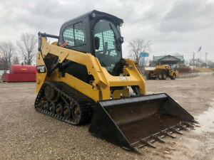 2015 Caterpillar 257d Rubber Track Skid Steer Cab Ac Cat Loader