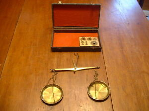 Vintage German Gold Scale With Troy Oz Weights