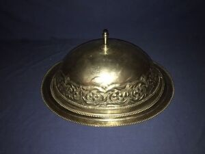 Antique Silverplate Food Cover Turkey Meat Dome Large