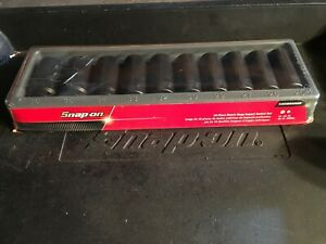 Snap On 310simmaddon 10pc 1 2 Dr Metric Deep Impact Socket Set Unused