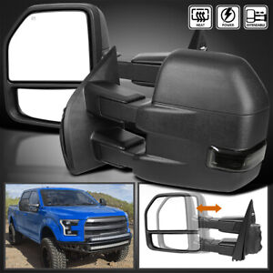 For 2015 2019 Ford F150 Power Heated Smoke Led Signal Tow Mirrors 8pin And 22pin