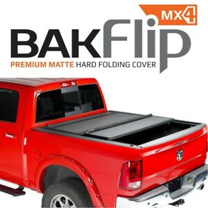 448506 Bakflip Mx4 Hard Folding Tonneau Cover For Frontier 5 Bed 2005 2019