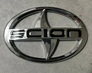 Scion Silver Chrome Front Rear Emblem Badge Decal 3m Back Frs Tc Xa Xb Xd