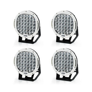 Xprite 4pcs 96w Led Driving Work Lights Round Spot Light For Off Road 4wd White
