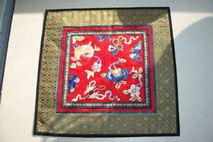 Vintage Chinese Silk Embroidery Panel Peking China