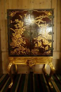 Asian Wood Cabinet