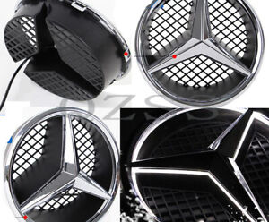 Illuminated Led Light Front Grille Star Emblem Badge For Mercedes Benz 2006 2013