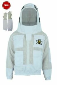 Bee Sting Safety 3 Layer Uv Beekeeping Beekeeper Jacket Fancy Veil