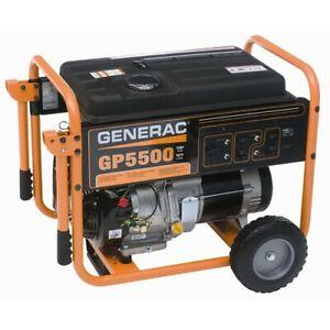 Generac Gp5500 6 875 Watt 389cc Ohv Portable Gas Powered Generator