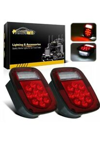 Partsam Universal Led Trailer jeep Tail Light set Of 2