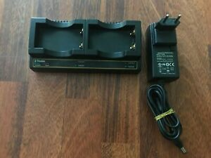 Trimble Dual Bay Battery Charger P n 61116 00 With Ac Adapter