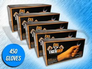 450 Tiger Grip 7 Mil Heavy Duty Orange Textured Nitrile Gloves x large
