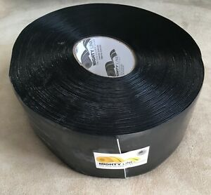 Mighty Line Floor Marking Tape Roll Black Solid Pvc 100 Feet 4 Inches Wide New