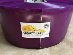 Mighty Line Floor Marking Tape Roll Purple Solid Pvc 100 Feet 4 Inches Wide New