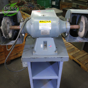Baldor 8 Double end Buffer W Dust Collector Pedestal Id F 017