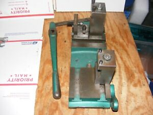 Logan Powermatic 12 Lathe Production Cross Slide And Tool Posts
