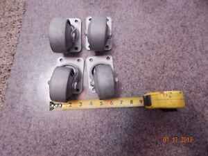 4 Vintage Steel Swivel Heavy Industrial Casters 3 Steampunk