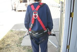 Construction Worker Full Body Safety Harness Ppe D Ring Belt Vest