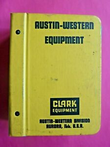 Vintage Clark Austin western Grader Hydraulic Crane Specification Catalog Binder