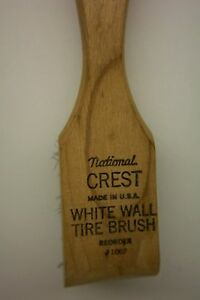Vintage National Crest White Wall Tire Brush Wire Made In U S A