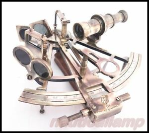 Vintage Kelvin Hughes Solid Brass Astrolabe Sextant Maritime Working Sextant