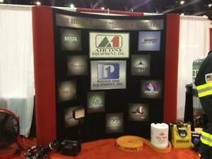 Trade Show Velcro Backdrop Used Good Condition