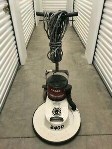 Minuteman 2400 Rpm Series 20 Floor Burnisher W Pams Dust Control Buffer