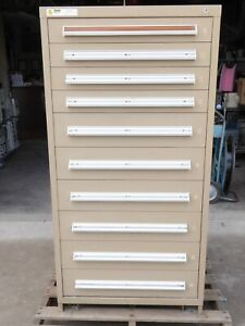 Stanley Vidmar 10 Drawer Tool Shop Equipment Storage Hd Industrial Cabinet