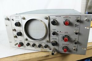 Vintage Type Rm15 Tube Tektronix Oscilloscope Vertical Time Base Rare Old