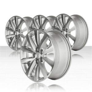Revolve 18x8 Machined bright Silver Wheel For 13 15 Chevy Malibu set Of 4