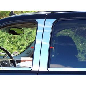 4pc Luxury Fx Chrome Pillar Post Trim For 2007 2013 Chevrolet Avalanche 4 door