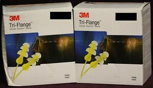 3m Tri flange Earplugs Hearing Protection P3000 2 Boxes 100 Pairs ea New
